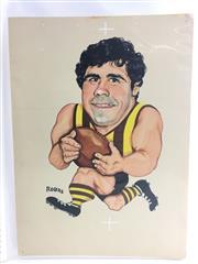 Sale 8863S - Lot 16 - Leigh Mathews, Hawthorn. Acknowledged as the best player of the 20th Century, Matthews played 332 games for the Hawks, booting 915 g...