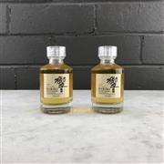 Sale 8950W - Lot 10 - 2x Suntory Whisky Hibiki 17YO Blended Japanese Whisky - 50ml miniature bottles (100ml total)