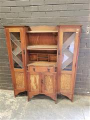 Sale 8979 - Lot 1034 - Art Deco Drinks Cabinet (h:145 x w:127 x d:20cm)