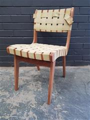 Sale 9002 - Lot 1085 - Douglas Snelling Webbed Dining Chair (h:75 x w:42cm)