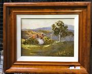 Sale 9072 - Lot 2030 - Robyn Collier Homestead, Hanging Rock oil on canvas board, 40 x 47cm (frame), signed