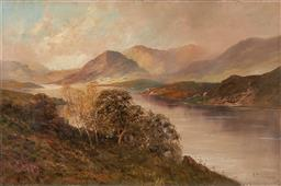 Sale 9212A - Lot 5056 - FRANK E. JAMIESON (1834 - 1899) Loch Katrine oil on canvas 50 x 75.5 cm (frame: 71 x 96 x 7 cm) signed lower right, inscribed and ti...