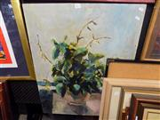 Sale 8429A - Lot 2072 - Keating - Still Life, oil on board, 76 x 61cm, signed lower left