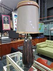 Sale 8566 - Lot 1014 - Ceramic Lamp with Copper Finish