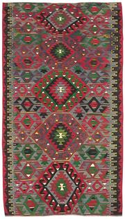 Sale 8725C - Lot 85 - A Vintage Turkish Kilim Carpet, Hand-knotted Wool, 270x153cm RRP $1,800