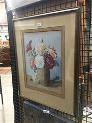 Sale 8751 - Lot 2042 - A E Hayes - Chrysanthemum 30.5 x 22.5cm