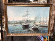Sale 8836 - Lot 2046 - Artist Unknown - Maritime Scene, Oil On Board, Signed Lower Right