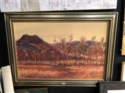 Sale 8861 - Lot 2025 - Rex Backhaus-Smith - Buffalo Country, NT oil on board, 65 x 90cm (frame), signed