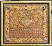 Sale 8941 - Lot 2063 - An elaborate Thai Embroidery of a Peacock, 61 x 69cm (frame) -