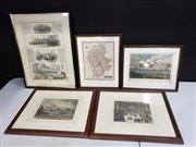 Sale 8958 - Lot 2074 - Group of (5) hand-coloured Engravings of C19th England incl: Staffordshire Map published 1818