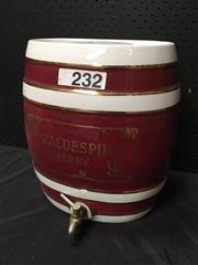 Sale 9051 - Lot 1056 - Porcelain Whiskey Barrel