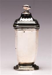 Sale 9078 - Lot 136 - A Harrods sterling silver salt shaker H8cm