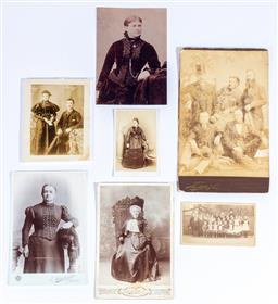 Sale 9190E - Lot 96 - A collection of vintage portrait photographs