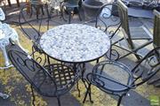 Sale 8390 - Lot 1375 - Metal 5 Piece Outdoor Suite