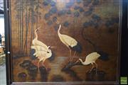 Sale 8530 - Lot 2019 - B. Joseph Oriental Scene with Cranes, on canvas, SLR