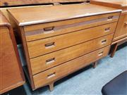 Sale 8822 - Lot 1045 - Butilux Teak 4 Drawer Chest