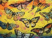 Sale 8838A - Lot 5089 - David Bromley (1960 - )  - Butterflies Yellow 55 x 74cm