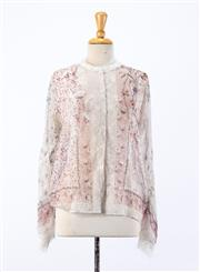 Sale 8888 - Lot 134 - An Etro, Milan floral printed silk shirt with lace trim, approx size 10/12