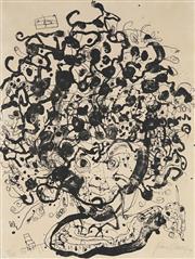 Sale 8916 - Lot 594 - John Olsen (1928 - ) - Portrait of Brett Whiteley 1979 64.5 x 49.5 cm
