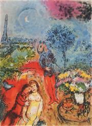Sale 8985A - Lot 5048 - Marc Chagall (1887 - 1985) - Serenade 89 x 63 cm (frame: 113 x 87x 3 cm)