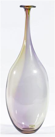 Sale 9003G - Lot 601 - Kosta Boda Kell Engman Art Glass Bottle (height 42cm)