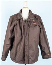 Sale 9080F - Lot 83 - A DRIZABONE RAIN JACKET; in light brown, size XXL (small fit)