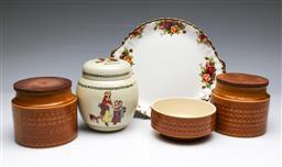 Sale 9093P - Lot 89 - Royal Albert Plate (diam. 26cm), Hornsea Wares and Yardley Jar