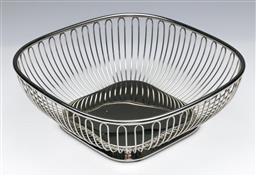 Sale 9148 - Lot 15 - Alessi chrome bread basket (23cm x 23cm)