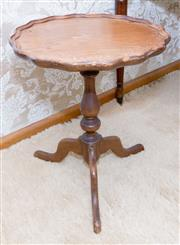 Sale 8346A - Lot 31 - A small circular cedar wine table, H 50cm