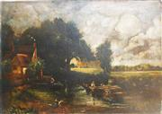 Sale 8362A - Lot 72 - Early English School, After John Constable - Untitled 26 x 26cm