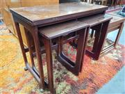 Sale 8822 - Lot 1059 - Quality McIntosh Rosewood Nest of Tables with fold over top