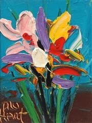 Sale 8764 - Lot 514 - Kevin Charles (Pro) Hart (1928 - 2006) - Floral Still Life 12 x 9.5cm