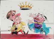 Sale 8883A - Lot 5033 - Bill Leak (1956 - 2017) - The Bleak Picture: John Howard and Peter Costello 24 x 32 cm