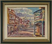 Sale 8903 - Lot 2007 - David Badcock (1960 - ) - Early Morning Mayne Street Gulgong 39 x 49.5 cm
