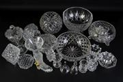 Sale 8994 - Lot 93 - Collection of cutglass wares incl. bowls