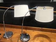Sale 9059 - Lot 1016 - Pair of Table Top Chrome Lamps (h:50cm)
