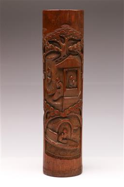 Sale 9104 - Lot 26 - A carved bamboo vase (H 37cm)