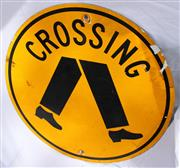 Sale 8319 - Lot 14 - Crossing road sign