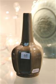 Sale 8340 - Lot 68 - Olive Crackle Glazed Vase