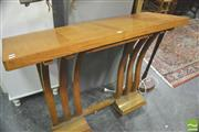 Sale 8347 - Lot 1005 - Timber Consol Table on Bentwood Base