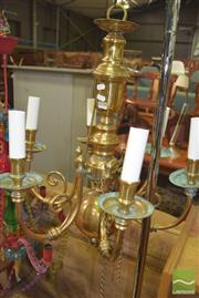 Sale 8352 - Lot 1055 - Brass Six Branch light fitting