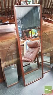 Sale 8383 - Lot 1042 - Set of 3 Teak Framed Graduated Mirrors
