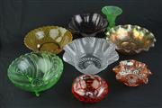 Sale 8429 - Lot 53 - Carnival Glass Bowls with Other Art Glass Wares