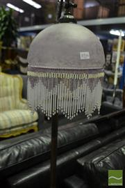 Sale 8472 - Lot 1034 - Glass Beaded Hanging Shade Standard Lamp