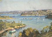 Sale 8549 - Lot 548 - Will Ashton (1881 - 1963) - Middle Harbour 43 x 48.5cm