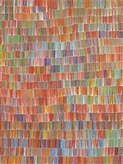Sale 8652 - Lot 553 - Jeannie Mills Pwerle (1965 - ) - Bush Yam 204 x 153cm