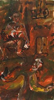 Sale 8663 - Lot 2005 - Michael Nicholls (1960 - ) - Spanish Senorita, 1990 51 x 28cm