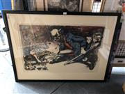 Sale 8807 - Lot 2075 - Fred Cress Tales of Hoffmann colour lithograph ed. 74/100, 68.5 x 92cm (frame), signed and dated lower right