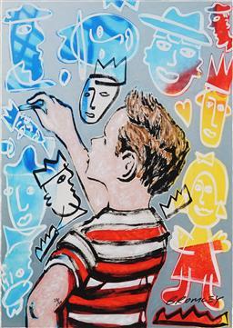 Sale 8838A - Lot 5041 - David Bromley (1960 - )  - The Painter 73 x 54cm