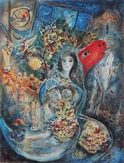 Sale 8985A - Lot 5049 - Marc Chagall (1887 - 1985) - Bella 84 x 63.5 cm (frame: 113 x 87 x 3 cm)